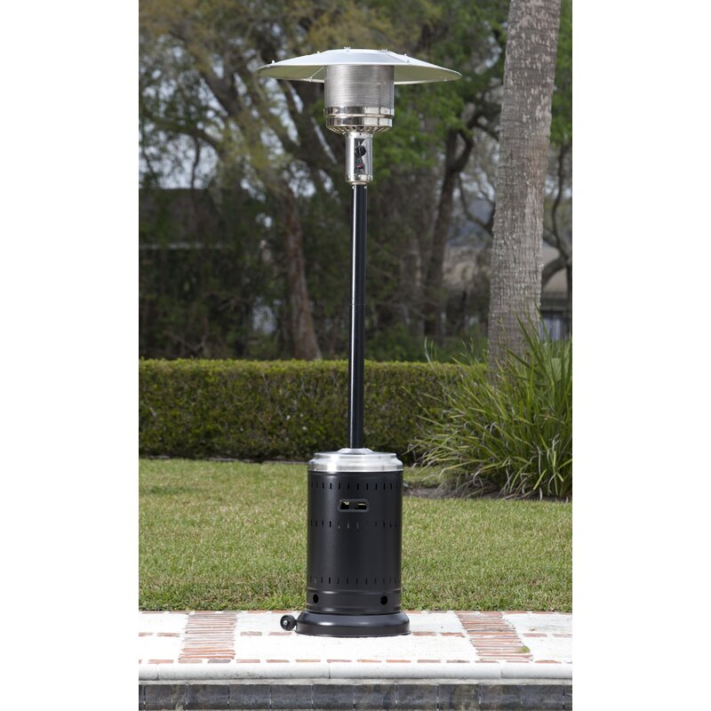 Charmant Hammer Tone U0026 Stainless Steel Commercial 46,000 BTU Propane Patio Heater
