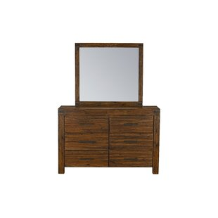 Arbor 6 Drawer Double Dresser with Mirror