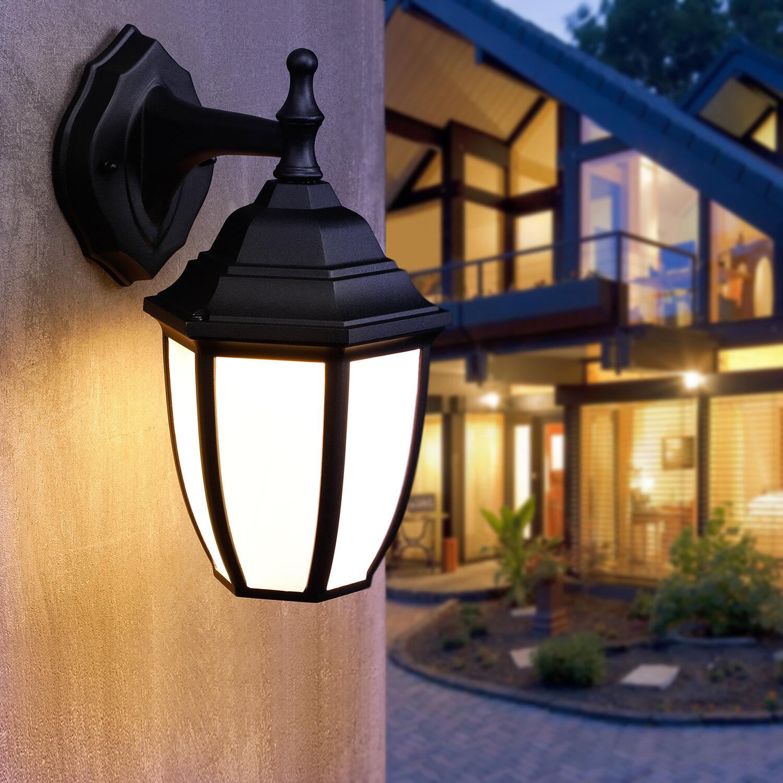 Charlton Home Siguna Black 1 Bulb 11 H Led Outdoor Wall Lantern Wayfair