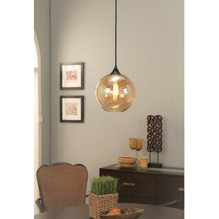 Carmichaels 1-Light Globe Pendant by Gracie Oaks