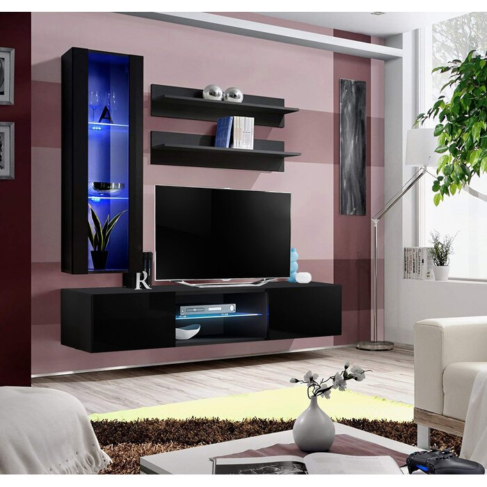 Livengood Wall Mounted Floating Entertainment Center For Tvs Up To 70