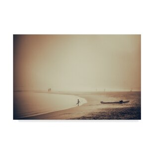 Standing On The Beach Photographic Print Wred Canvas