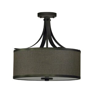 Pauline 3-Light Semi Flush Mount by Whitfield Lighting