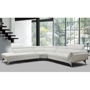 Goza Modern Leather Sectional by Orren Ellis
