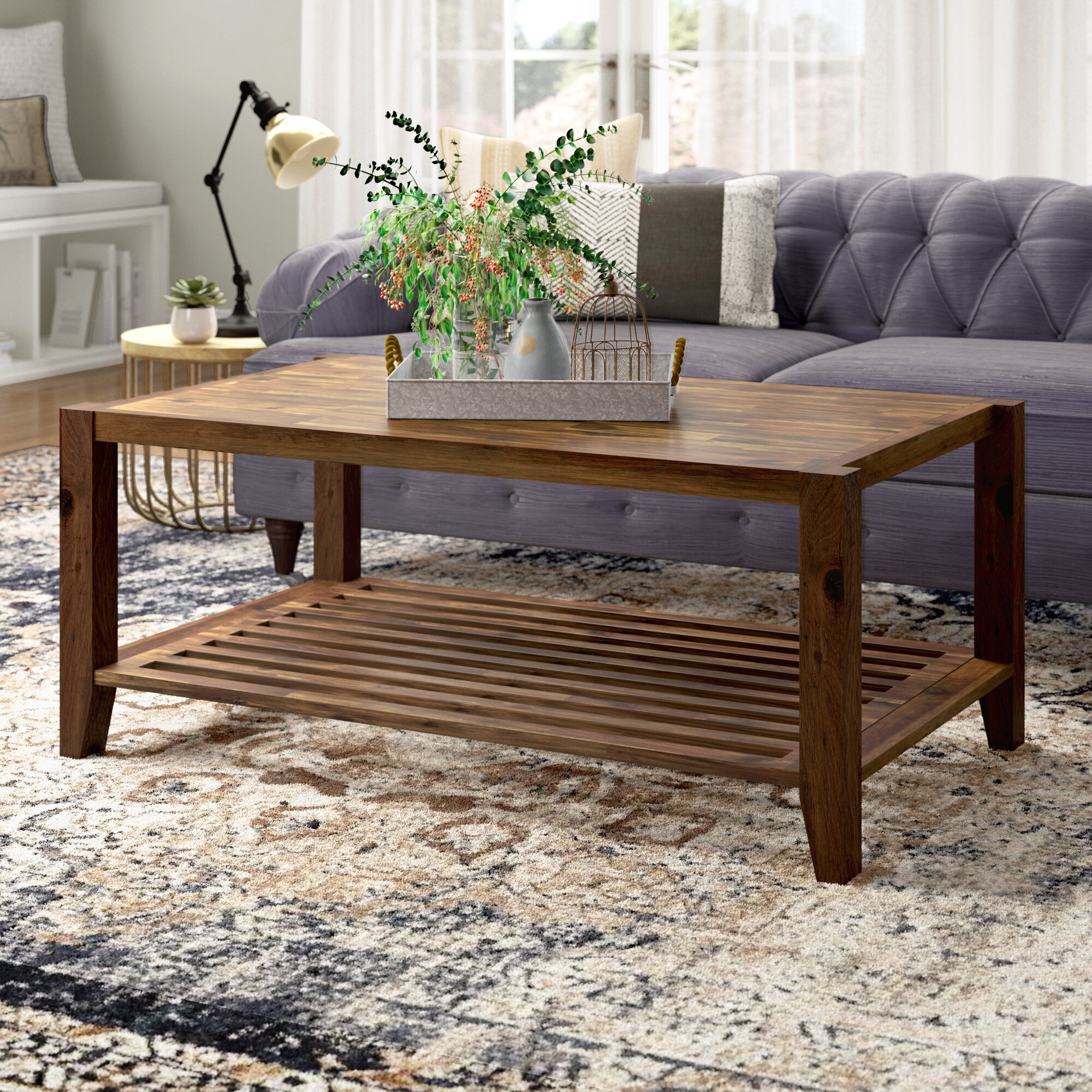 Laurel Foundry Modern Farmhouse Athena Solid Wood Coffee Table With Storage Reviews Wayfair