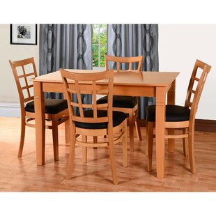 Laszakovits 5 Piece Solid Wood Dining Set August Grove