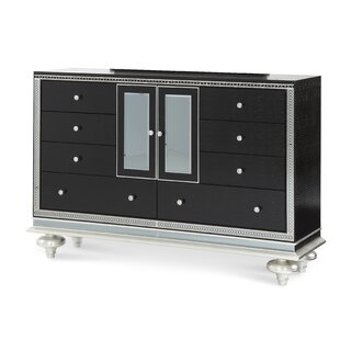 Hollywood Swank Starry Night 8 Drawer Dresser