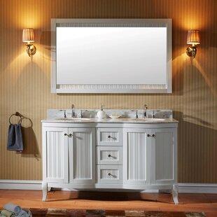 Khaleesi 60 Double Bathroom Vanity Set with Mirror by Virtu USA