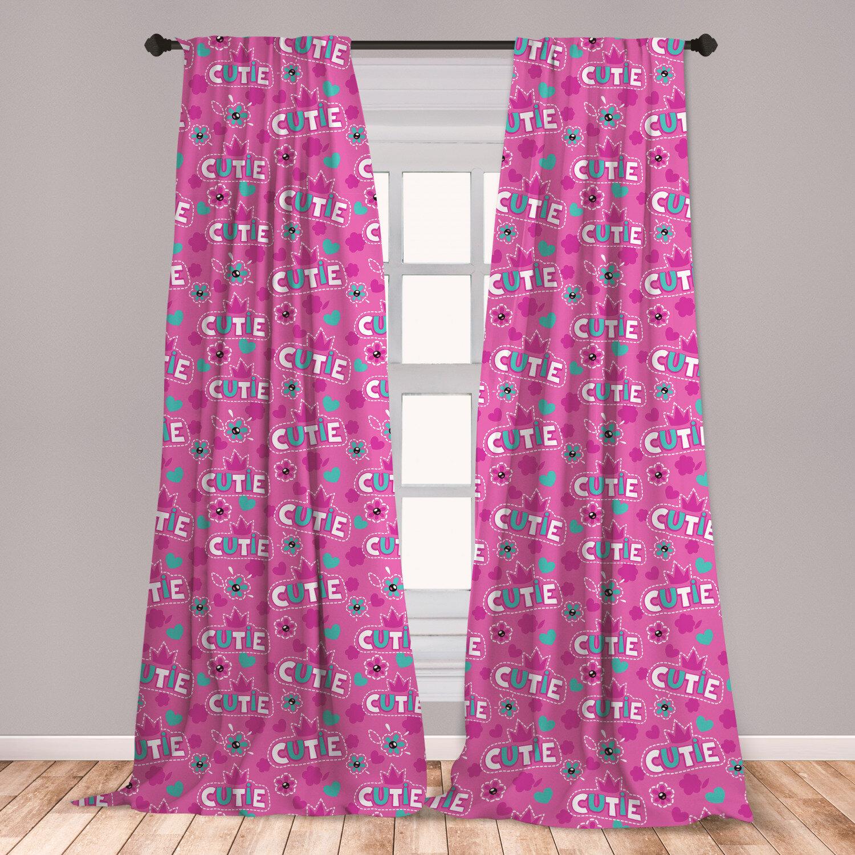 East Urban Home Feminine Room Darkening Rod Pocket Curtain Panels Wayfair