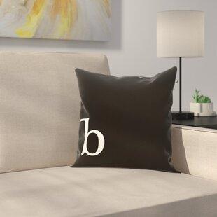 Alvares Monogram Throw Pillow
