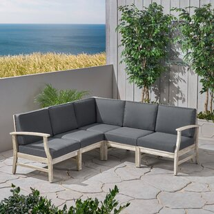 Brickhouse Patio Sectional with Cushions by Foundry Select