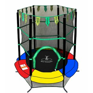 Newacme LLC Youth Jumping Trampoline 4' Round with Safety Enclosure