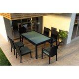 Azariah 7 Piece Sunbrella Dining Set with Cushions