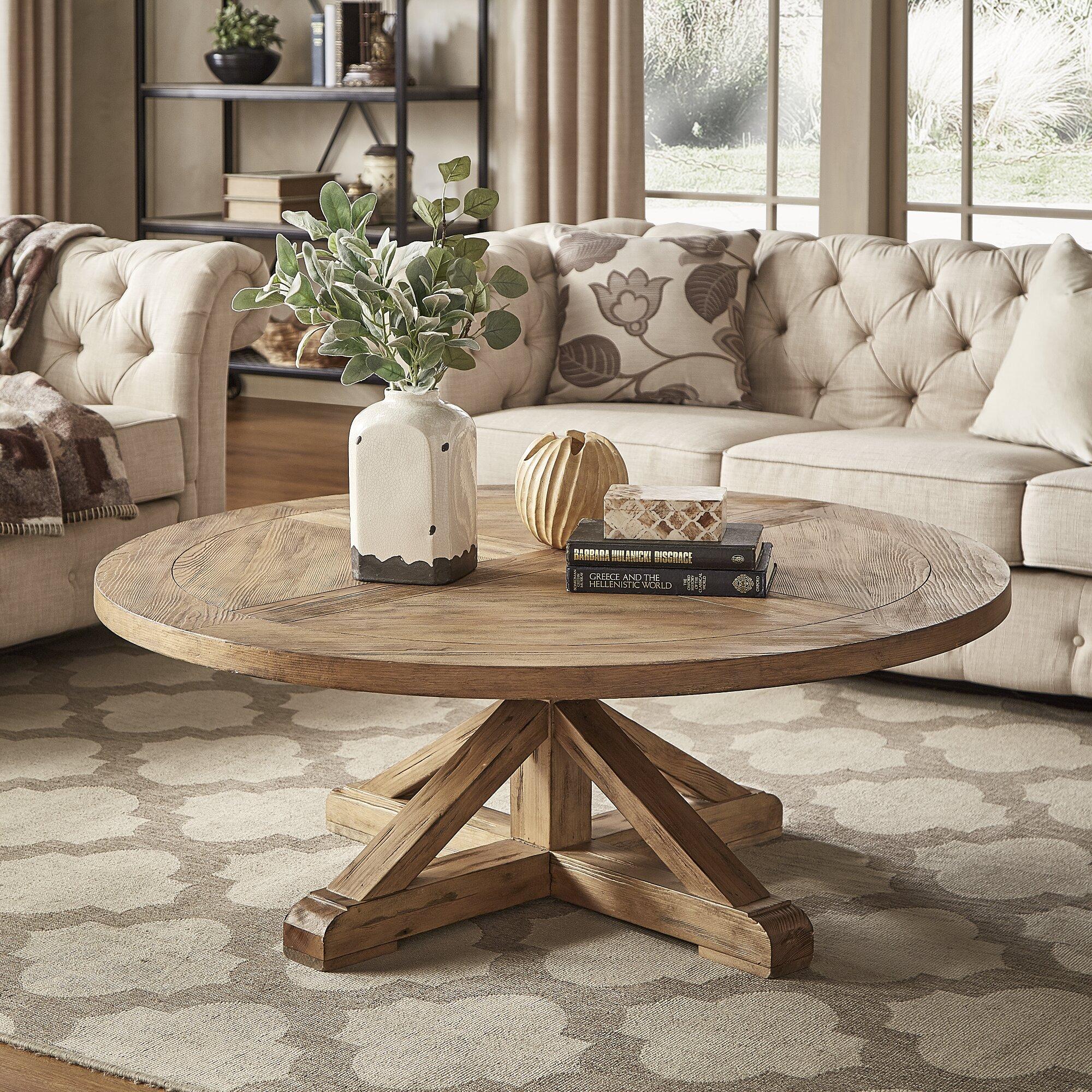 - Alpena Pedestal Coffee Table & Reviews Joss & Main