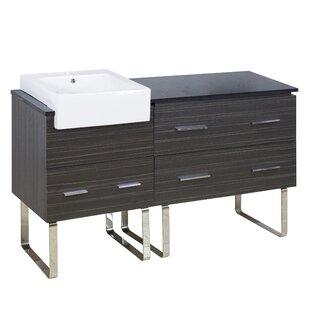 Xena Farmhouse Plywood-Melamine 58 Single Bathroom Vanity Base by American Imaginations