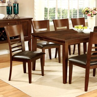 Kronos Transitional Solid Wood Dining Table Alcott Hill