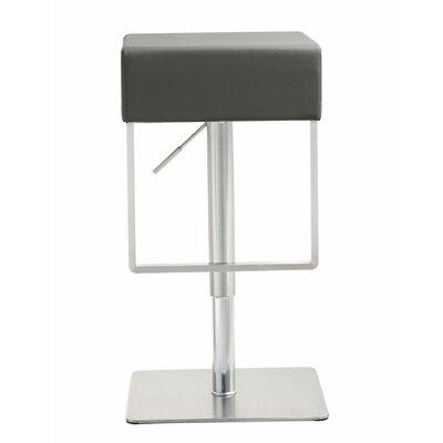 Groovy Wade Logan Adjustable Height Swivel Bar Stool Upholstery Grey Cjindustries Chair Design For Home Cjindustriesco