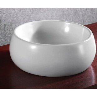 Big Save Ceramica Ceramic Circular Vessel Bathroom Sink By Caracalla