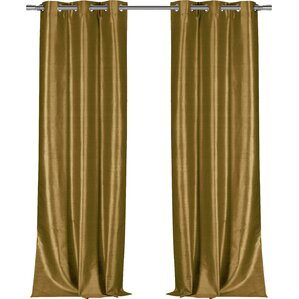 Calumet Solid Semi Sheer Grommet Single Curtain Panel