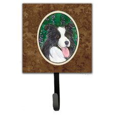 Border Collie Leash Holder and Wall Hook by Caroline's Treasures