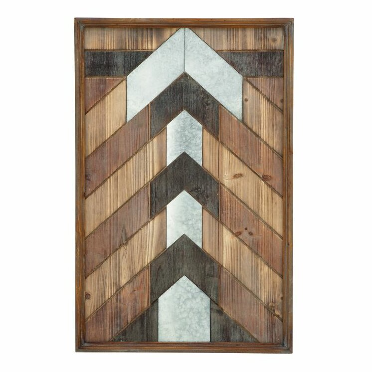 Wood Panel Wall Decor cole & grey wood panel wall décor & reviews | wayfair
