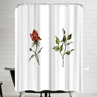 Loose Rose Buds Single Shower Curtain