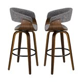 Strafford Swivel29.73'' Bar Stool (Set of 2) by Corrigan Studio®