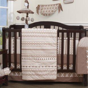Inexpensive Don Geometric 13 Piece Nursery Crib Bedding Set ByViv + Rae
