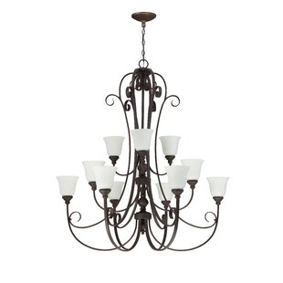 Lynette 12-Light Shaded Chandelier by Darby Home Co
