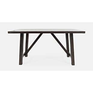 Leyt Trestle Counter Height Dining Table by Gracie Oaks Today Only Sale
