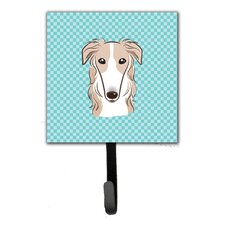 Checkerboard Borzoi Leash Holder and Wall Hook by Caroline's Treasures