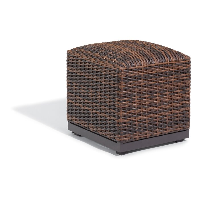 Remarkable Cammack Woven Outdoor Ottoman Machost Co Dining Chair Design Ideas Machostcouk