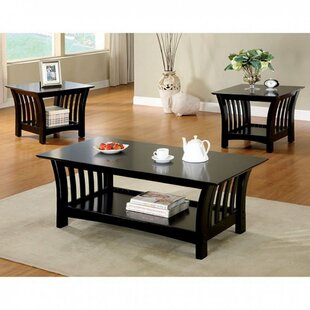 Neida Transitional 3 Piece Coffee Table Set