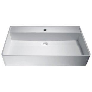 ANZZI Tilia Plastic Rectangular Vessel Bathroom Sink