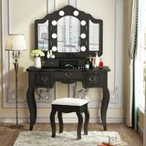 Piermont Vanity with Mirror by Red Barrel Studio®