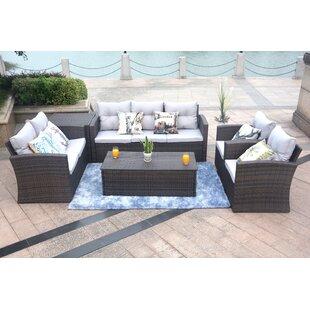 Shelba 7 Seater Rattan Sofa Set Image