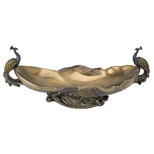 Peacock's Centerpiece Sculptural Decorative Bowl