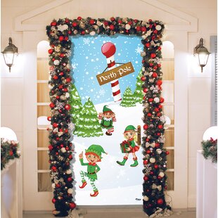 north pole elves christmas garage front door mural