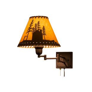 Meyda Tiffany Greenbriar Oak Swing Arm Lamp