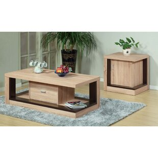 Joana Wooden 2 Piece Coffee Table Set
