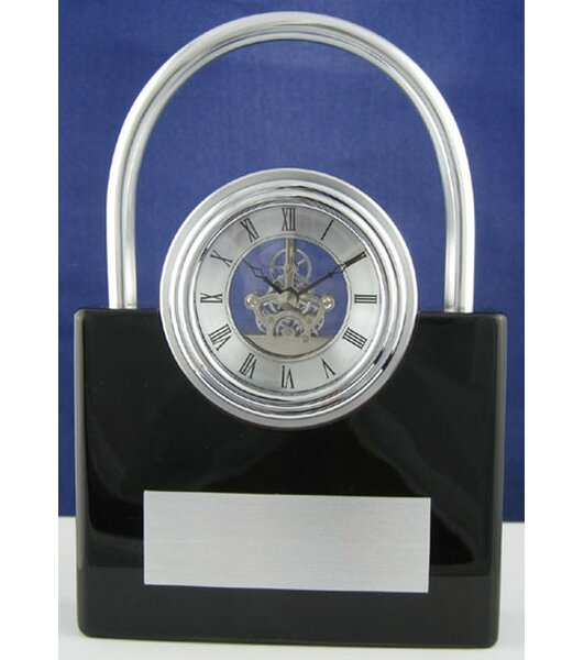 Orren Ellis Padlock Skeleton Desktop Clock Wayfair