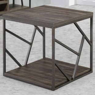 Linde End Table by Wrought..