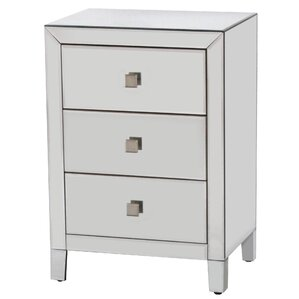 Broadbent 3 Drawer Wood Base Accent Chest