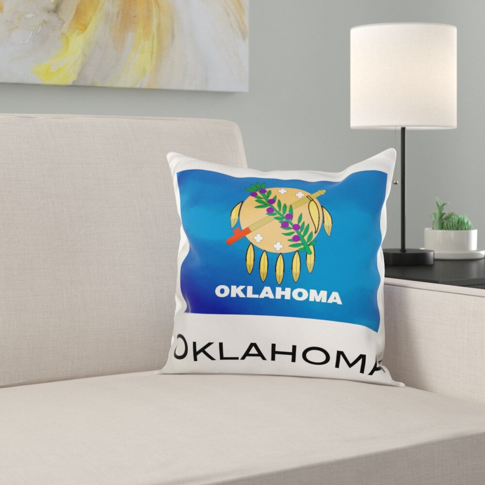 East Urban Home Oklahoma State Flag Pillow Cover Wayfair