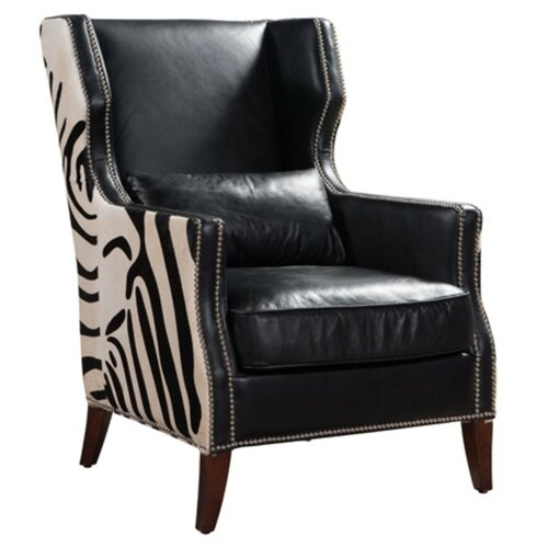 Zachery Wingback Chair Williston Forge Upholstery Colour: Bl