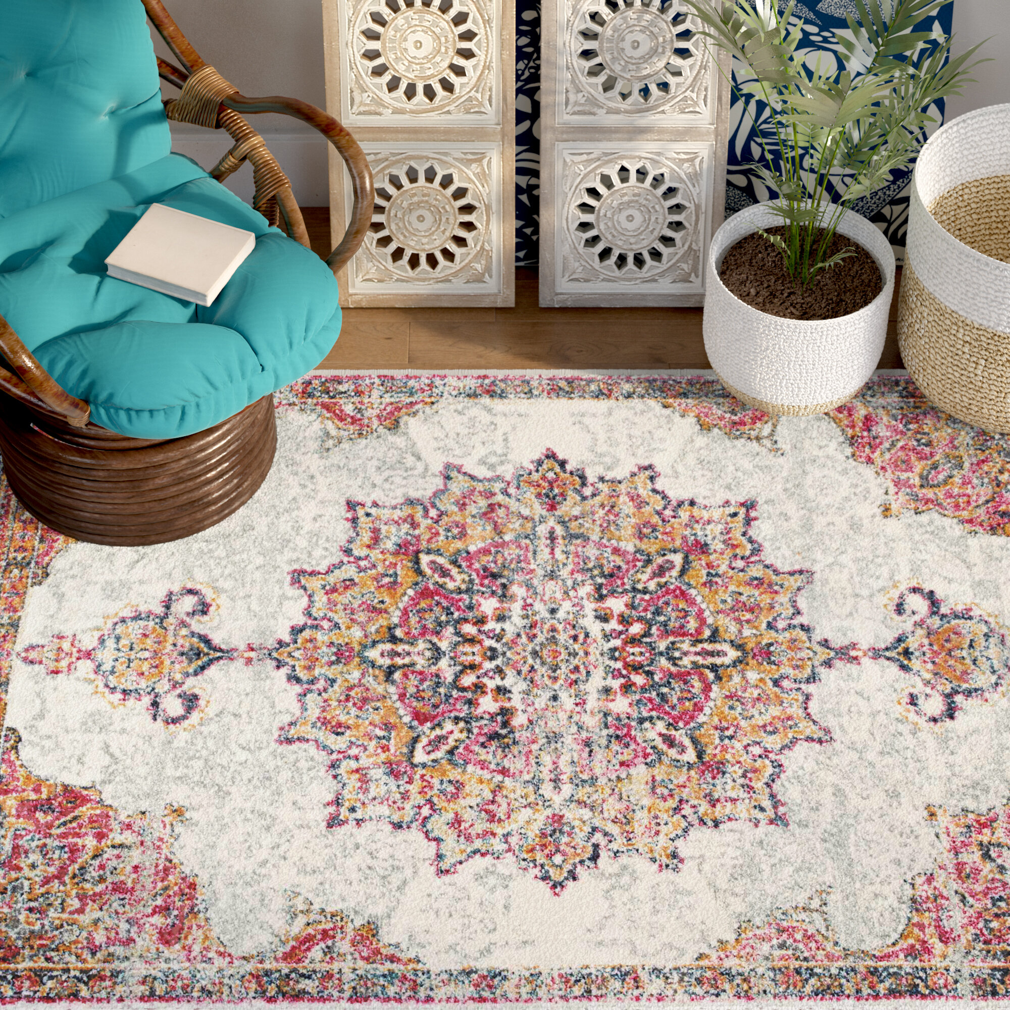 turkt floral rug urbanoutfitters rugs bathroom bright laundry garden big carpets room images pinterest printed arquitetura best and on