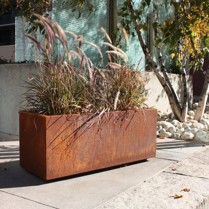 Veradek Metallic Series Corten Steel Planter Box & Reviews