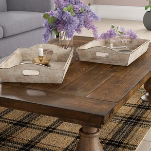 Delicieux Hargrave Wood 2 Piece Accent Tray Set