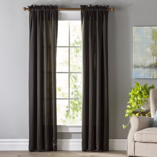 Wayfair Basics Solid Room Darkening Rod Pocket Single Curtain Panel by Wayfair Basics™