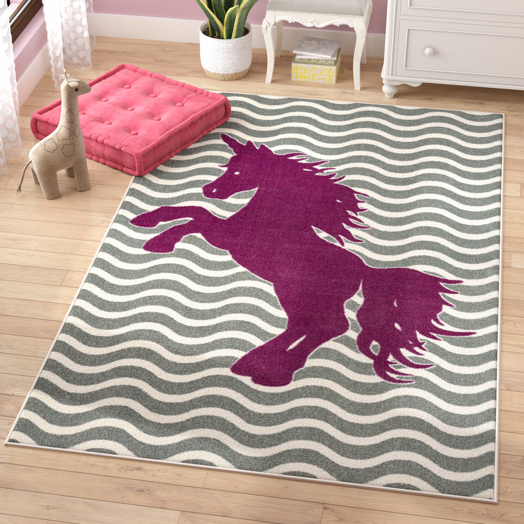 Viv Rae Heimbach Majestic Unicorn Royal Area Rug Reviews Wayfair